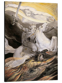 Aluminium print  Death on a Pale Horse - William Blake