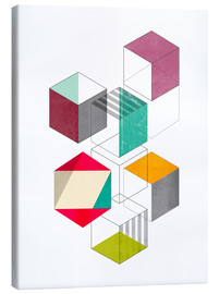 Canvas print  Colorful cubes - Nouveau Prints