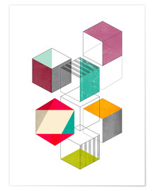 Premium poster Colorful cubes