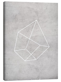 Canvas print  Gray polygon 6 - Nouveau Prints