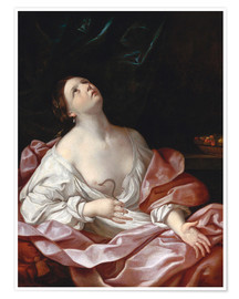 Premium poster  Cleopatra with the Asp - Guido Reni