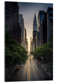 Acrylic print  New York City Sunset - Dennis Fischer