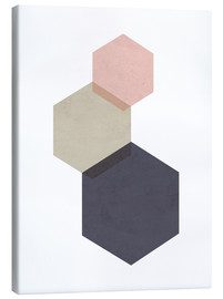 Canvas print  Hexagon - Nouveau Prints