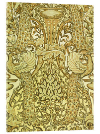 Acrylic print  Golden peacocks - Walter Crane