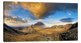 Canvas print  Volcano Mount Ngauruhoe Tongariro NP New Zealand - Michael Rucker