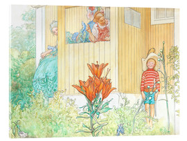 Acrylic print  dressing up - Carl Larsson