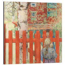 Aluminium print  Through the Fence - Carl Larsson