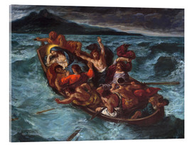 Acrylic print  Christ asleep during the storm - Eugene Delacroix