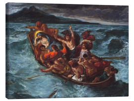 Canvas print  Christ asleep during the storm - Eugene Delacroix