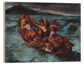 Wood print  Christ asleep during the storm - Eugene Delacroix