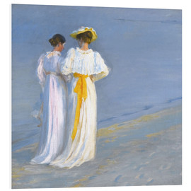 Foam board print  Summer Evening at Skagener Südstrand (detail) - Peder Severin Krøyer