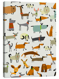 Canvas print  Dog breeds in all forms - Kidz Collection