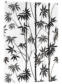 Acrylic glass  Bamboo black white