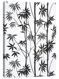 Canvas  Bamboo black white