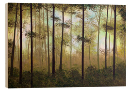 Wood print  Forest morning - Herb Dickinson