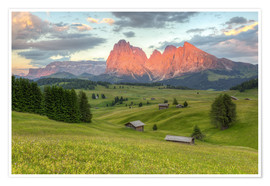 Premium poster Alpenglow in the Dolomites