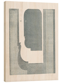 Wood print  Three Vertical Profiles - Oskar Schlemmer