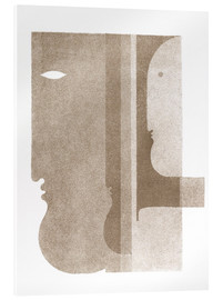 Acrylic print  Two profiles to the left, one to the right - Oskar Schlemmer