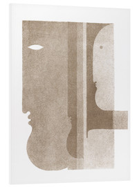 Foam board print  Two profiles to the left, one to the right - Oskar Schlemmer
