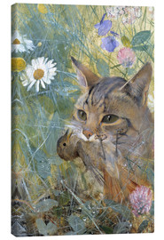 Canvas print  A Cat with a Young Bird in its Mouth - Bruno Andreas Liljefors