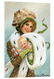 Acrylic print  Girl with child in the muff - Jenny Nyström