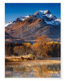 Premium poster Autumn morning mood in the mountains