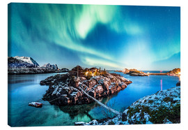 Canvas  Aurora Borealis in Northern Norway III - Sascha Kilmer