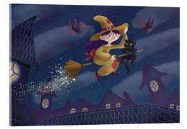 Acrylic glass  Little witch - Leonora Camusso