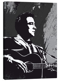 Canvas  Johnny Cash black and white art print - 2ToastDesign