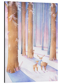 Alu-Dibond  Little deer in the forest - Rebecca Richards