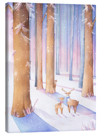 Canvas  Little deer in the forest - Rebecca Richards