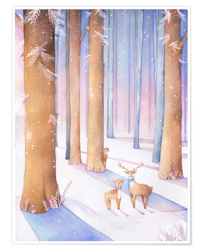 Premium poster Little deer in the forest