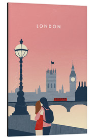 Aluminium print  London Illustration - Katinka Reinke