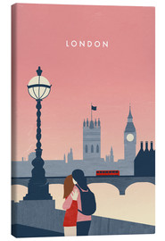 Canvas print  London Illustration - Katinka Reinke