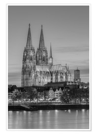 Premium poster  Cologne Cathedral black-and-white - Michael Valjak