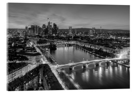 Acrylic print  Frankfurt skyline black-and-white - Michael Valjak