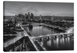 Canvas print  Frankfurt skyline black-and-white - Michael Valjak