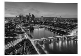 Michael Valjak - Frankfurt skyline black-and-white