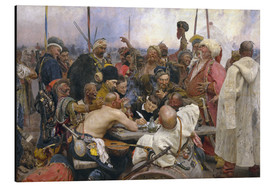 Aluminium print  Reply of the Zaporozhian Cossacks - Ilya Efimovich Repin