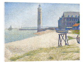 Acrylic print  Lighthouse in Honfleur - Georges Seurat