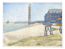 Premium poster Lighthouse in Honfleur