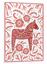 Foam board print  Swedish Dala horse - Nic Squirrell