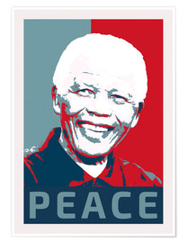 Premium poster  Nelson Mandela, Peace and Hope - Alex Saberi