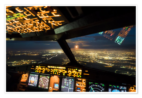 Art print POSTER Canvas Airbus A320 Taking Off