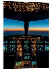 Acrylic glass  A320 cockpit at twilight - Ulrich Beinert