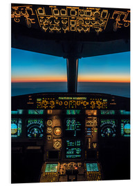 Foam board print  A320 cockpit at twilight - Ulrich Beinert