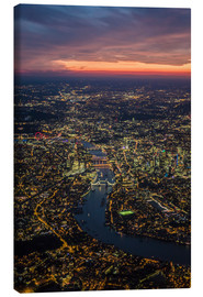 Canvas print  Birds-eye view of London - Ulrich Beinert
