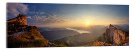 Acrylic print  Sunrise on Schafberg - Silvio Schoisswohl
