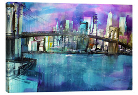 Canvas print  New York Brooklyn Bridge - Johann Pickl