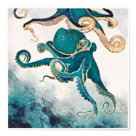 Premium poster  Octopus, underwater dream V - SpaceFrog Designs